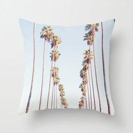 Palm tree stripes Throw Pillow