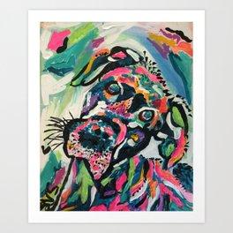 Day Brightening Dog Art Print