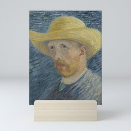 Self Portrait with Straw Hat Mini Art Print
