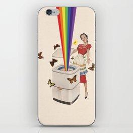 Rainbow Washing Machine iPhone Skin