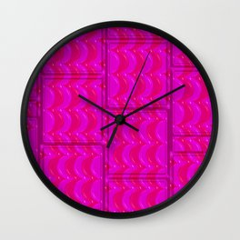 PinkStripe Wall Clock