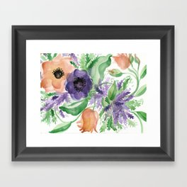 Spring Bouquet - Tulips & Anemones Framed Art Print