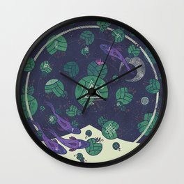 Amongst the Lilypads Wall Clock
