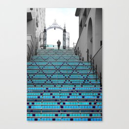 Mystery Man on the Blue Stairway to Heaven, Kansas City Canvas Print