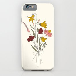 Wildflowers Bouquet iPhone Case