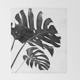 Tropical Monstera Finesse #2 #minimal #decor #art #society6 Throw Blanket