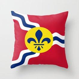 Flag of Saint Louis Throw Pillow