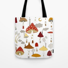 mushroom homes Tote Bag