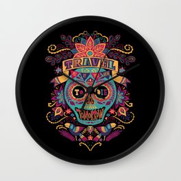 Travel As If You Were to Die Tomorrow - La Noche Wall Clock