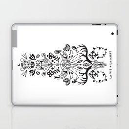 La Vie + La Mort: Black Ink Laptop & iPad Skin