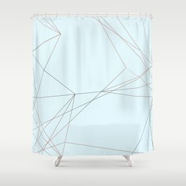 LIGHT LINES ENSEMBLE II Shower Curtain