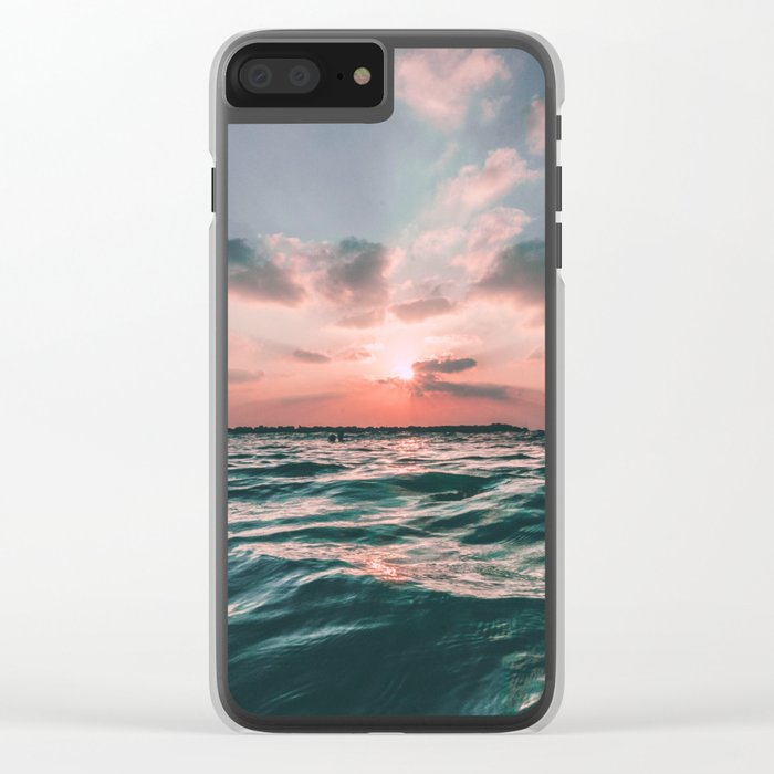 Ocean Sunrise Clear iPhone Case