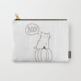 Cat and Pumpkin Halloween Carry-All Pouch