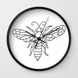 Bee Friendly Wall Clock