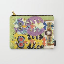 Vintage Postcard Owl Collage Carry-All Pouch