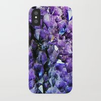 geode iPhone & iPod Cases featuring Amethyst Geode by The Wellington Boot