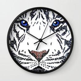 White Tiger Wall Clock