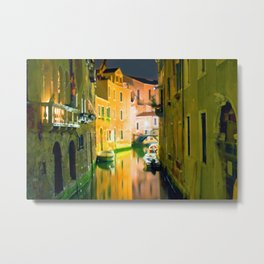 Italy. Venice in yellow Metal Print