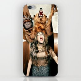 Funny Bear at an Office iPhone Skin