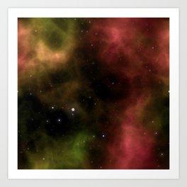 Galaxy Nebula Starfield Backgroun Art Print