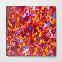 Abstract Red 002 Metal Print