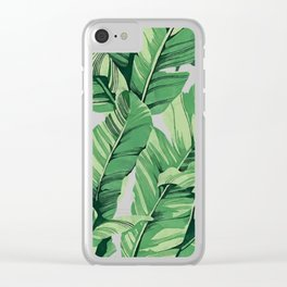 Tropical banana leaves V Clear iPhone Case