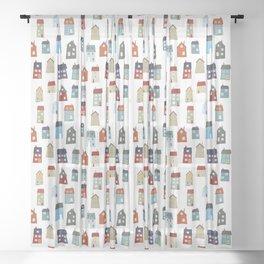 Little Houses Sheer Curtain