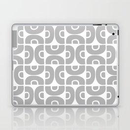 Groovy Mid Century Modern Pattern Gray Laptop & iPad Skin