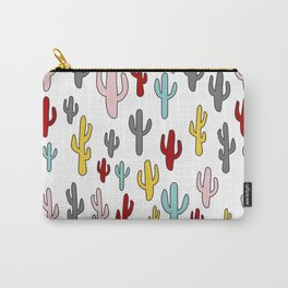 Colorful Cactus Pattern Carry-All Pouch