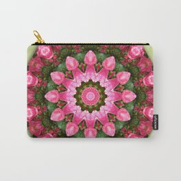 Floral mandala-style, Rose 001.1 Carry-All Pouch