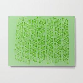Irregular green Metal Print