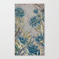 vintage asian floral Canvas Print