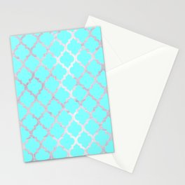 Moroccan Silver & Turqoise Stationery Cards