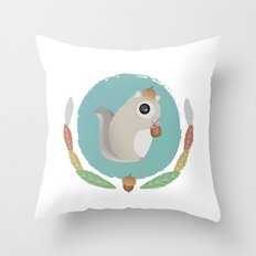 Japanese Flying Squirrel Throw Pillow