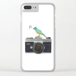 Watch the birdie Clear iPhone Case