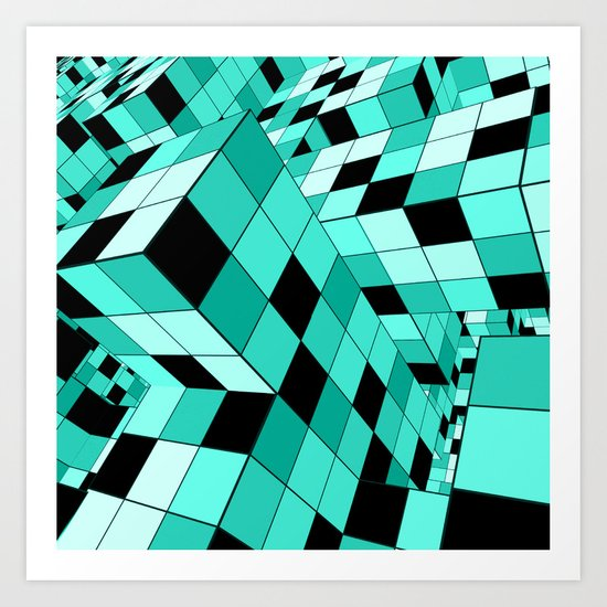 Rubik series 1, mint Art Print