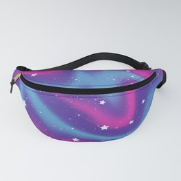 Starlight Digital Paint Push - Pink, Purple, Blue Fanny Pack