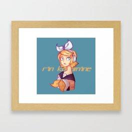 Rin Kagamine Framed Art Print