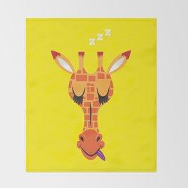 Sleepy Giraffe Throw Blanket