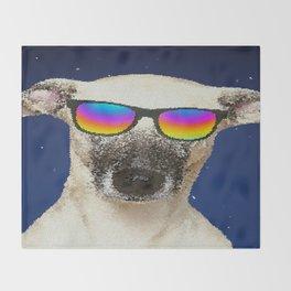 Cool dog Throw Blanket