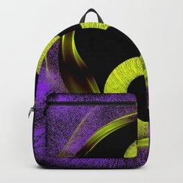 yin yang Ensō zen buddhism purple anise Backpack