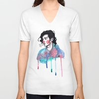matty healy V-neck T-shirts featuring Matty by The vintage icon