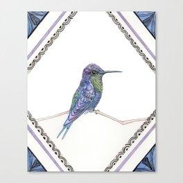 Violet-crester Woodnymph Canvas Print