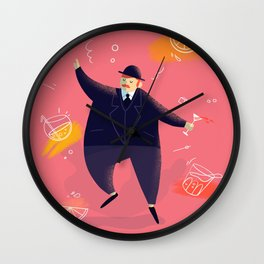 A bit tipsy ! Wall Clock