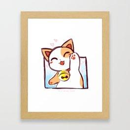 Happy Manekineko Framed Art Print