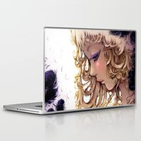 les mis Laptop & iPad Skins featuring Les plumes... by Ludovic Jacqz