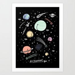 Asstronomy Art Print