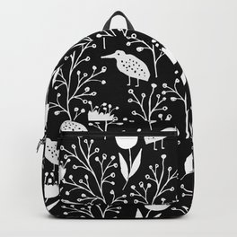 Kiwi Garden - Black and White Backpack