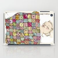 child iPad Cases featuring sleeping child by Cecilia Sánchez