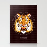 thundercats Stationery Cards featuring Geometric Tiger by chobopop